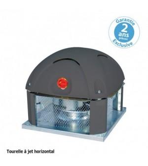 Tourelle 1 vitesse - triphasée - refoulement horizontal - 3000 m³ / h sous 190 Pa