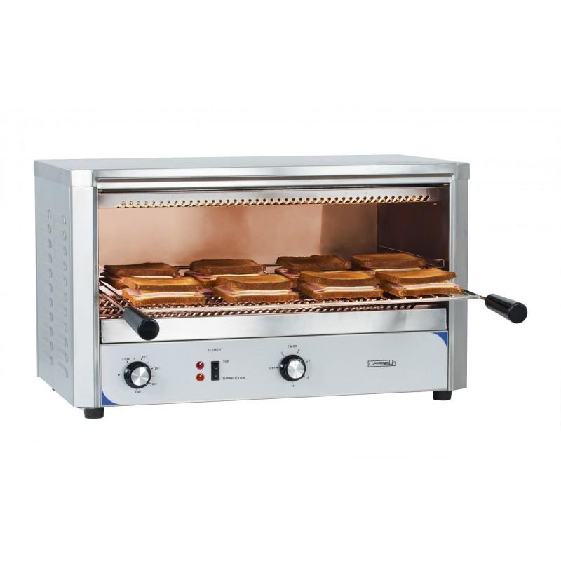 Toaster professionnel à quartz et passe-plat - 680 x 500 x 400 mm - Casselin - CTQGM