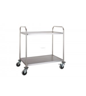 Chariot inox - 2 plateaux