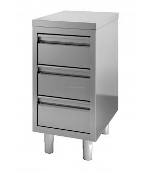Armoire à tiroirs - 3 tiroirs - 400 mm