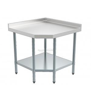 Table inox angulaire - Profondeur 700 mm