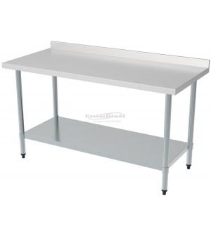 Table inox avec dosseret 700 - Profondeur 700