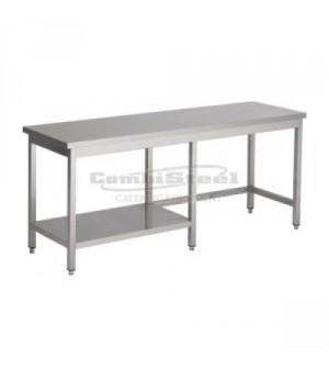 Table inox 1/2 étagère profondeur 700