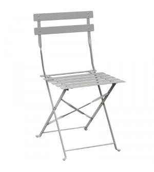 Chaise de terrasse en acier gris
