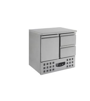 Table réfrigérée 1 porte 2 tiroirs - Positive