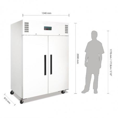 Armoire réfrigérée positive 2 Portes 1200 L - Polar -