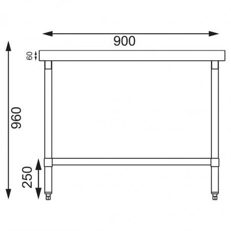 Gamme 600 Table Dosseret Inox Professionnelle Sans Vogue qMVSUzp
