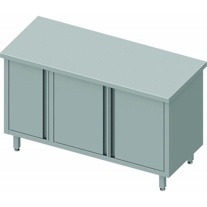 Meuble bas inox sans dosseret portes battantes gamme 700 stalgast pas cher - Meuble bas inox ...