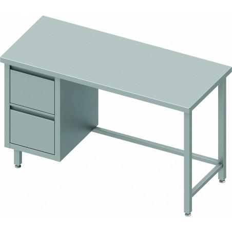 Table Inox Avec Tiroir & Sans Dosseret - Gamme 800 - Stalgast -