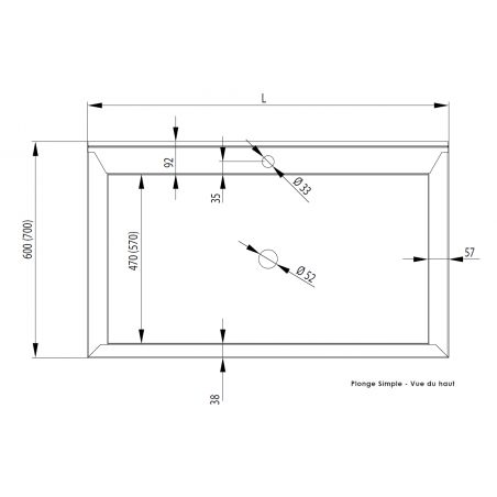 Plonge Inox Bac de Hauteur 400 mm - Gamme 600 - Stalgast -