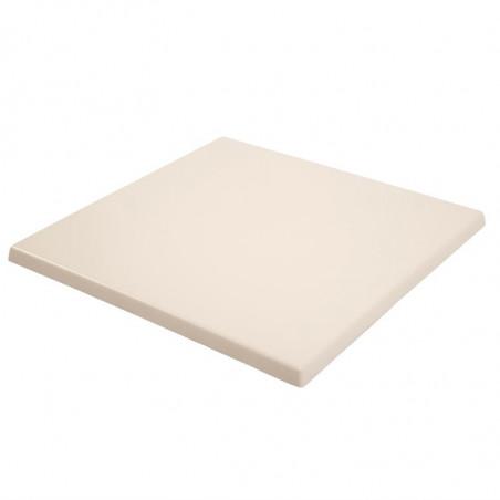 Plateau de table carré blanc 600 mm - Bolero -
