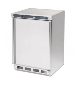 Réfrigérateur dessous de comptoir inox Polar 150L