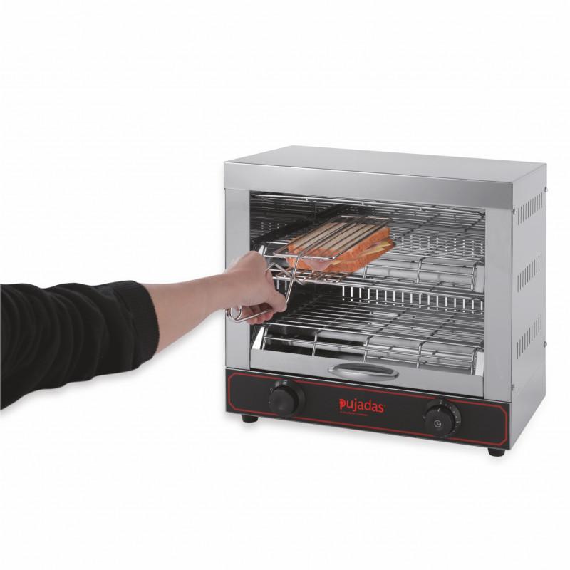 Toaster Professionnel avec 6 Pinces à Sandwich 3 Kw - Pujadas - P15.039