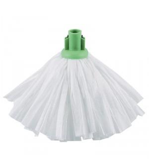 Grand mop traditionnel blanc support vert Jantex 120g