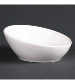 Minis bols inclinés en porcelaine fine 75mm Lumina