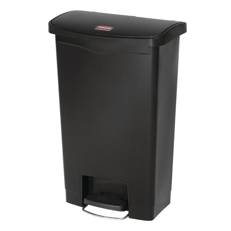poubelle p dale frontale slim rubbermaid noire 50l. Black Bedroom Furniture Sets. Home Design Ideas