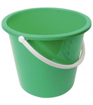 Seau rond en plastique 10L Jantex vert