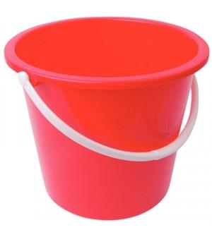 Seau rond en plastique 10L Jantex rouge