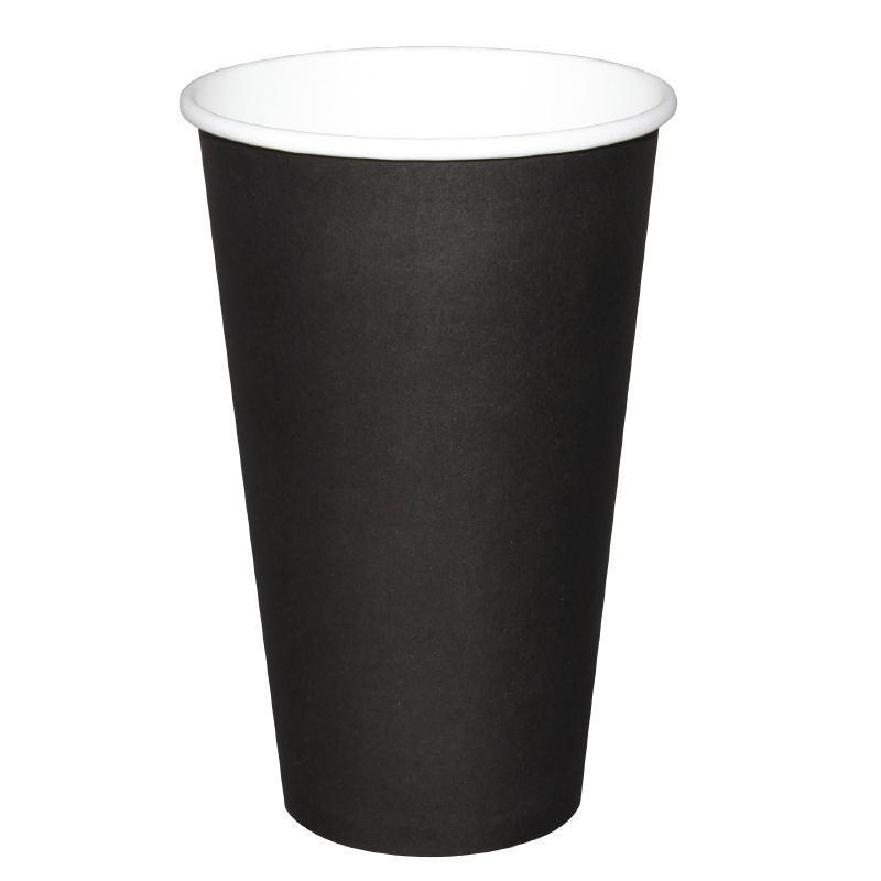 Gobelets Boissons Chaudes Noirs 230 ml - Fiesta - Boite de 50 -