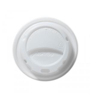 Couvercle blanc bombé pour gobelets isolants 227ml